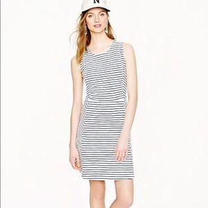 J. Crew striped knit sleeveless dress navy ivory 0